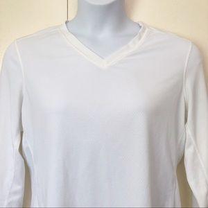 REI Womens Baselayer T Shirt XL white Long Sleeve